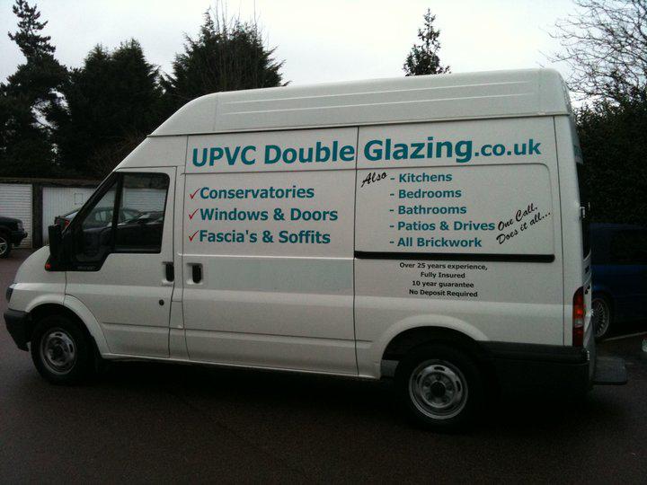photo of upvc double glazing van