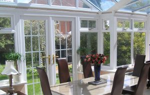 photo of interior fitted upvc conservatory