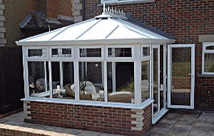 photo of upvc conservatory fitted